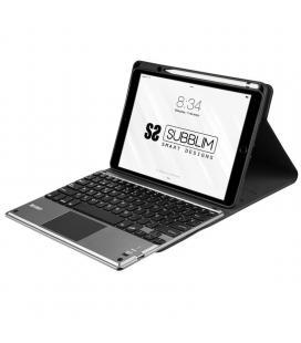 Funda con teclado subblim keytab pro bluetooth touchpad black - para ipad 10.2'/25.9cm - batería 420mah - espacio para apple