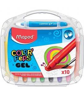 Estuche 10 lápices de gel acuarelables maped color'peps 836310 - blandos - colores vivos