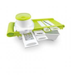 Multipicador 5 en 1 jocca 5578 - 5 cuchillas - función multicortadora/ralladora/mandolina - incluye bol para depositar alimentos