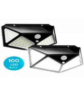 Pack de 2 focos solares led flux´s con sensor de movimiento - impermeable - 3 modos de iluminacion - Imagen 1