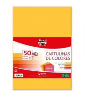 Pack 50 cartulinas grafoplas fixo paper 00001494 - a4 - gramaje 180 gramos - colores fuertes i