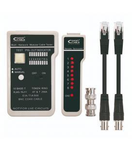 Tester nanocable 10.31.0303 para cable rj11/rj12/rj45 y coaxial - cables stp / utp - test mediante un solo botón