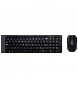 Teclado + mouse logitech mk220 wireless inalambrico negro portugues