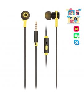 Auriculares metalicos ngs crossrallyblack - tecnologia voz assistant - 20hz - 20khz - 95db - jack 3.5mm - cable 1.2m