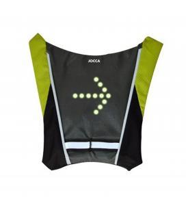 Chaleco para ciclistas con indicadores jocca 6228p - 4 indicadores luminosos - funciona con control remoto - 2*cr2032 - Imagen 1