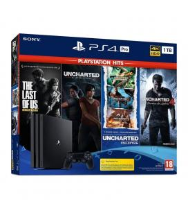 CONSOLA SONY PLAYSTATION 4 PRO 1TB + THE LAST OF US + UNCHARTED LEGACY + UNCHARTED COLLECTION + UNCHARTED 4