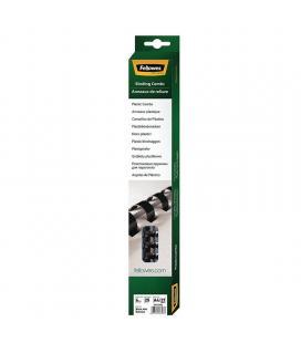 Canutillos de plástico para encuadernación fellowes 5330302 - caja 25 unidades - redondo - 6mm - negro - para encuadernadoras -
