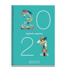 Agenda escolar 2020/2021 miquel rius 26100 júnior plus números - sept 20/agosto 21 - semana vista - 155*213mm - 70g/m2 - - Image