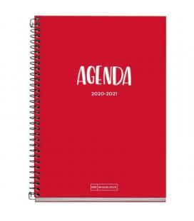 Agenda escolar 2020/2021 miquel rius 26105 school plus rojo - sept 20/agosto 21 - semana vista - 155*213mm - 70g/m2 - - Imagen