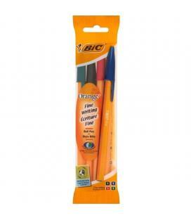 Bolígrafo bic orange original fine blister*4 8308541 - azul / negro / rojo / verde - punta 0.8mm - trazo 0.3mm - Imagen 1