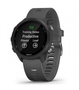 Reloj deportivo con gps garmin forerunner 245 gris - pantalla color 3.04cm - sensor frecuencia cardiaca - pulsioximetro - 5atm
