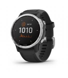 Reloj deportivo con gps garmin fénix 6s solar plata/negro - pantalla 30.4mm - carga solar - frec cardiaca - pulsioximetro - - Im