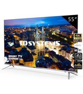 "TV TD SYSTEMS K55DLJ10US 55"" UHD 4K SMART ANDROID WIFI USB HDMI NEGRO PLATA (REACONDICIONADA)"