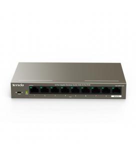 Switch tenda teg1109p-8-102w - 8 puertos 10/100/1000 (datos/poe) - 1 puerto 10/100/1000 datos - auto mid/mdix