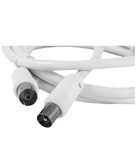 Cable silver ht antena tv - macho - hembra - 1.5m - blanco - Imagen 1
