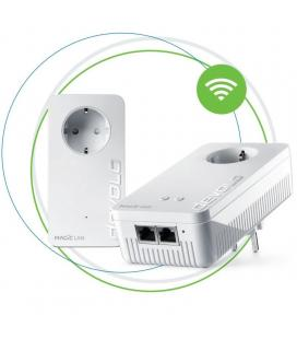 Plc/powerline devolo magic 2 wifi next starter kit - pack 2 unidades (lan / wifi) - hasta 2400mbps - 2*rj45 gigabit - toma