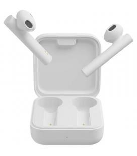Auriculares bluetooth xiaomi mi true wireless earphones 2 basic white - bt5.0 tws - drivers 14.2mm - estuche de carga - usb - Im