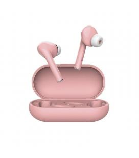 Auriculares bluetooth trust nika touch pink - bt5.0 tws - drivers 10mm - controles táctiles - 2 tapones adicionales para las