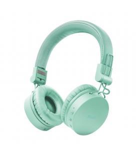 Auriculares bluetooth trust tones turquoise - drivers 40mm - batería recargable - jack 3.5 para uso con cable - diseño plegable