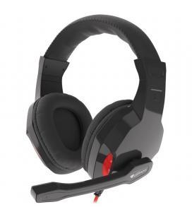 Auriculares con micrófono génesis argón 120 - drivers 40mm - 32 ohmios - control de volumen integrado - cable 180cm - 2*mini