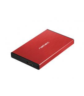 "CAJA EXTERNA NATEC RHINO GO DISCO DURO 2,5"" USB 3.0 SATA ROJA"