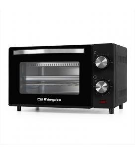 Horno de sobremesa orbegozo ho 980 negro - 650w - capacidad 10l - puerta doble cristal - temporizador 60 min - bandeja +