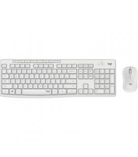 Teclado y ratón inalámbricos logitech mk295 blanco crudo - silent touch - 2.4ghz - alcance 10m - nano receptor  usb - 3*aaa