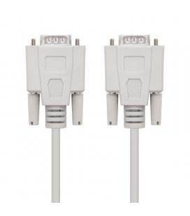 Cable serie rs232 nanocable 10.14.0102 - conectores tipo db9/m-db9/m - 1.8m - beige