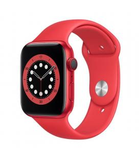 Apple watch s6 44mm gps cellular caja aluminio roja con correa roja sport band - m09c3ty/a