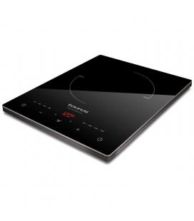 Placa de inducción taurus darkfire daily - 2000w - ø 20cm - display led - 8 niveles de temperatura - superficie de cristal de