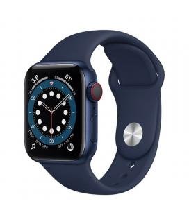Apple watch s6 40mm gps cellular caja aluminio azul con correa azul marino intenso sport band - m06q