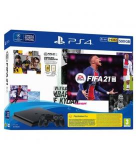 Consola sony ps4 500gb + fifa 21 + contenido descargable ultimate team + 14 dias ps plus