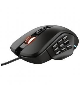 Ratón trust gaming gxt 970 morfix - 10000ppp - 14 botones programables - 4 laterales intercambiables - iluminación rgb - cable