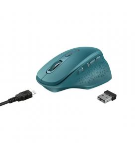 Ratón inalámbrico trust ozaa blue - óptico - 800-2400dpi - 6 botones - rf 2.4ghz - receptor usb - bat.recargable