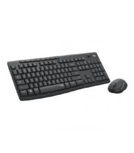 Teclado + mouse logitech mk295 silent negro wireles inalambrico
