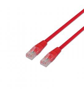 Latiguillo de red aisens a133-0187 - rj45 - utp - cat5e - 0.5m - rojo