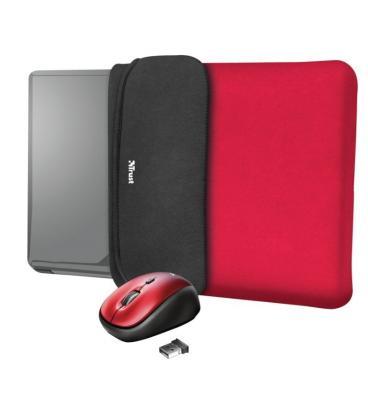Maletín + ratón inalámbrico trust yvo para portátiles hasta 15.6'/ rojo - Imagen 1