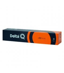 Caja de 10 cápsulas de café delta aqtivus - intensidad 8 - compatibles con cafeteras delta