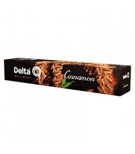 Caja de 10 cápsulas de café delta cinnamon - con notas a canela y frutos secos - compatibles con cafeteras delta