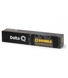 Caja de 10 cápsulas de café delta double - con ginseng y guarana - compatibles con cafeteras delta