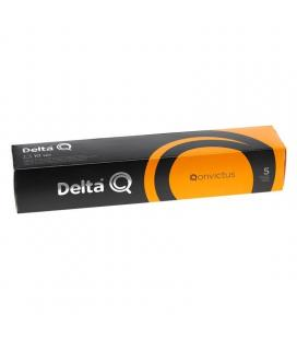 Caja de 10 cápsulas de café delta qonvictus - intensidad 5 - compatibles con cafeteras delta
