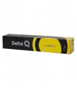 Caja de 10 cápsulas de café delta deliqatus - intensidad 3 - compatibles con cafeteras delta