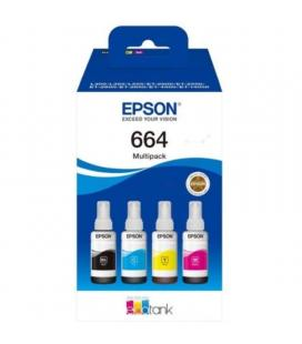 Botella de tinta original epson nº664 multipack/ negro/ cian/ magenta/ amarillo - Imagen 1