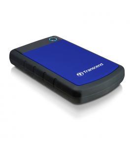 "DISCO DURO EXTERNO HDD TRANSCEND CARCASA ANTIGOLPES STOREJET 1TB/ 2.5""/ USB 3.0 /NEGRO/ AZUL/ TS1TSJ25H3B - Imagen 1"