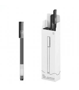 Bolígrafos de tinta gel xiaomi mi high-capacity gel pen/ 10 unidades/ color negro - Imagen 1