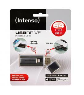 PENDRIVE 64GB USB3.0 INTENSO IMOBILE LINE NEGRO - Imagen 1