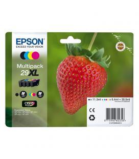 Cartucho tinta epson multipack 29xl claria home - 30.5ml - 4 colores (negro / amarillo / cian / magenta) - fresa