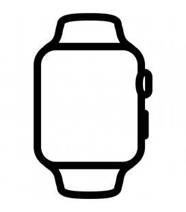Apple watch series 6/ gps/ cellular/ 40mm/ caja de acero inoxidable en plata/ correa deportiva blanca