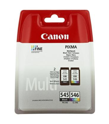 Cartucho de Tinta Original Canon PG-545 + CL-546 Multipack/ Negro/ Tricolor