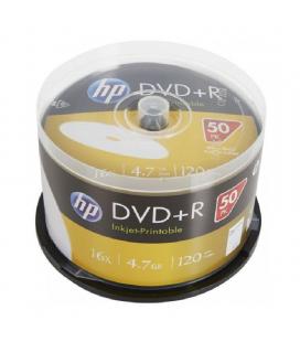 Dvd+r hp dre00026wip-3 print 16x/ tarrina-50uds